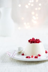 Pannacotta with pomegranate